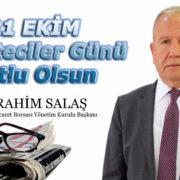 """Başkan Salaş'dan """"21 Ekim Dünya Gazeteciler Günü"""" Mesajı"""