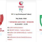 Nevşehir Belediyespor Cumartesi Oynayacak
