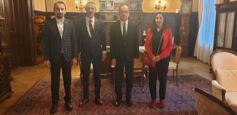 Altıok Avusturya Büyükelçisini ziyaret etti