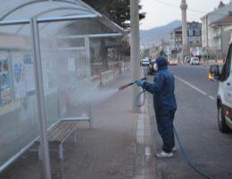 Gülşehir belediyesinin Korona virüs tedbirleri aralıksız sürüyor