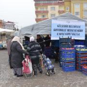 Gülşehir'de 7 ayrı noktada sebze ve meyve satış noktaları oluşturuldu