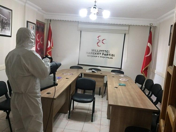 MHP binasında dezenfekte çalışmaları yapıldı