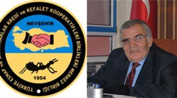 Nevşehir Esnaf ve Sanatkârlar Kredi ve Kefalet Kooperatifi Yönetim Kurulu Başkanı Kemal Ay'dan Açıklama.