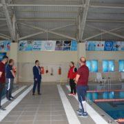 Özdemir yarı olimpik yüzme havuzunda incelemelerde bulundu