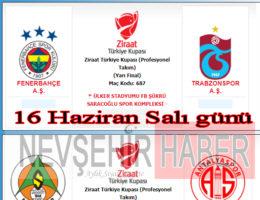 Ziraat Türkiye Kupası Fenerbahçe-Trabzonspor