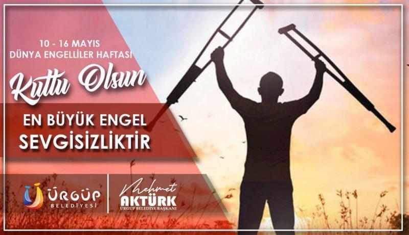 Başkan Aktürk'ün 10-16 Mayıs Dünya Engelliler Haftası Mesajı
