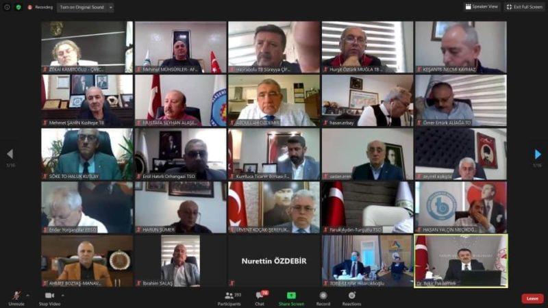 Başkan Salaş, video konferansla Pakdemir ile görüştü