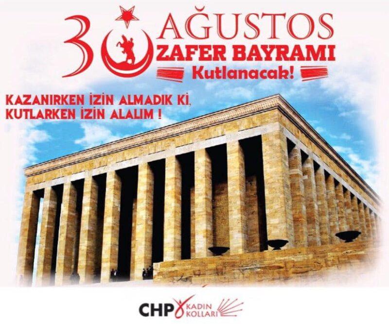 CHP Kadın Kolları Başkanı Yeliz Topraktepe, 30 Ağustos zafer bayramını kutladı
