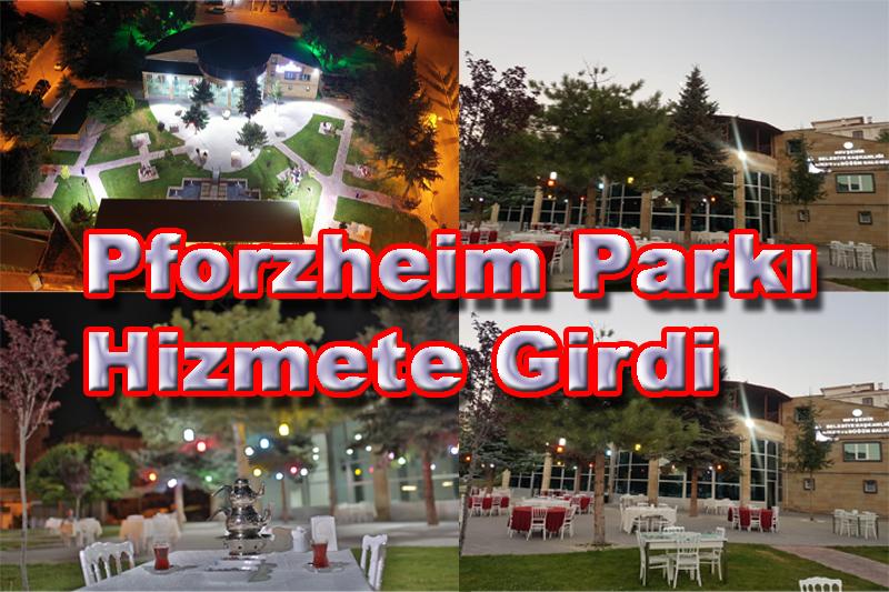 Pforzheim Parkı Çay Bahçesi Hizmete Girdi