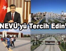 """Rektör Aktekin'den Adaylara """"NEVÜ'yü Tercih Edin"""" Çağrısı"""