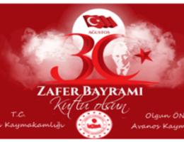 Kaymakam Öner'in 30 Ağustos Zafer Bayramı Mesajı