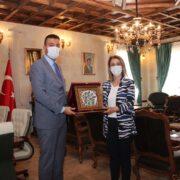 Nevşehir Valisi İnci Sezer Becel Ürgüp Belediyesini ziyaret etti