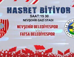 Nevşehir Belediyespor'un İlk Randevusu Fatsa Belediyespor