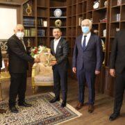Ahilik Haftası Kutlama Heyeti, Başkanı Arı'yı Ziyaret Etti