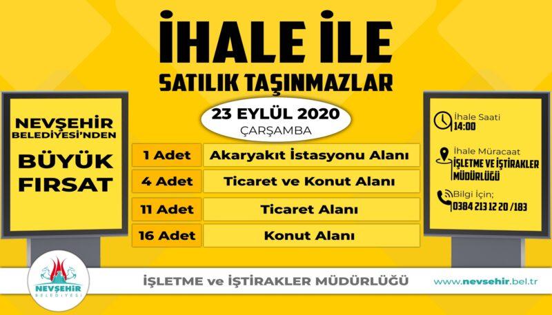 Nevşehir Belediyesi 32 Adet Arsayı Satışa Sundu