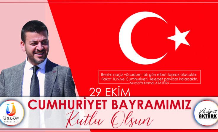 Başkan Aktürk'ün 29 Ekim Cumhuriyet Bayramı Mesajı