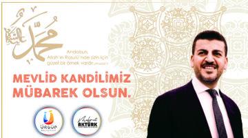 Ürgüp Belediye Başkanı Mehmet Aktürk'ün Mevlid Kandili Mesajı