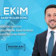 Başkan Rasim Arı'nın 'Dünya Gazeteciler Günü' Mesajı