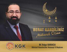 KGK İl Başkanı Karaca, Berat kandilini kutladı