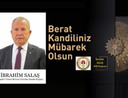 Başkan Salaş'tan, Berat Kandili Mesajı