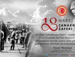 Menekşe'nin 18 Mart mesajı